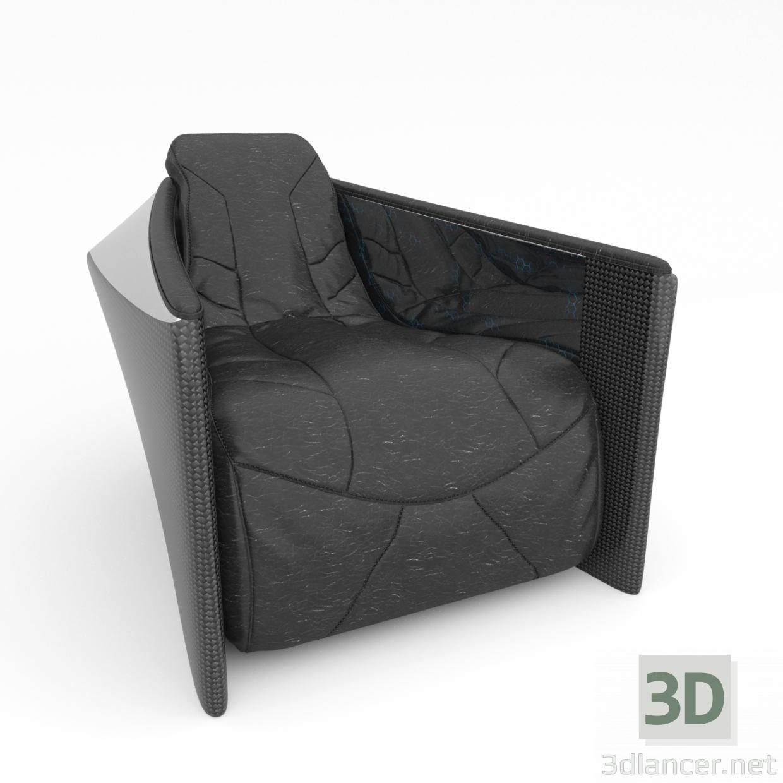 3 डी मॉडल Armchair टाइटन कुर्सी - पूर्वावलोकन