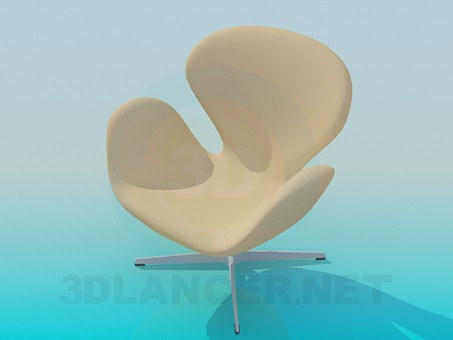 3d model Armchair on the stem - preview