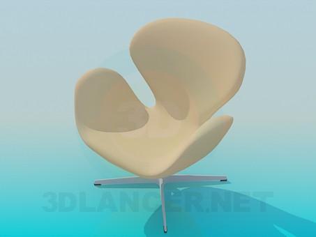 3d модель Крісло на ніжці – превью