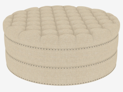 Ottomane GRAND ROUND TUFTED OSMANE (7801.1107)