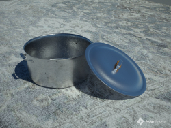 Casserole with lid (stainless steel)
