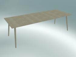 Dining table In Between (SK6, 250x100cm H 74cm, Clear lacquered oak)
