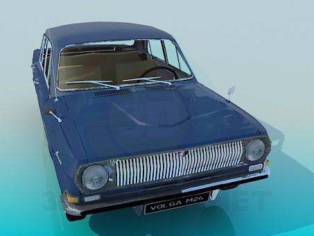 3d модель Волга ГАЗ-24 – превью