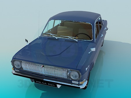 3d model Volga GAZ-24 - preview
