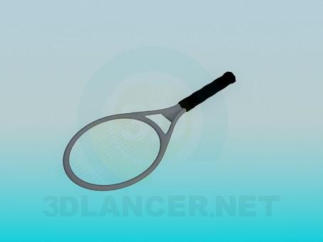 modelo 3D Raqueta de badminton - escuchar