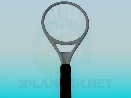 3d model Badminton racket - preview