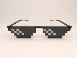 Óculos de sol de pixel de 8 bits