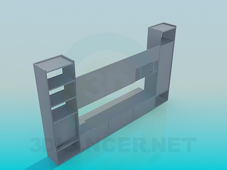 modelo 3D cupboardl en la sala de estar - escuchar
