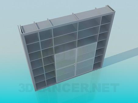 descarga gratuita de 3D modelado modelo Estante de pared para libros