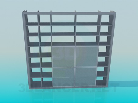 3d model Wall-rack for books - preview
