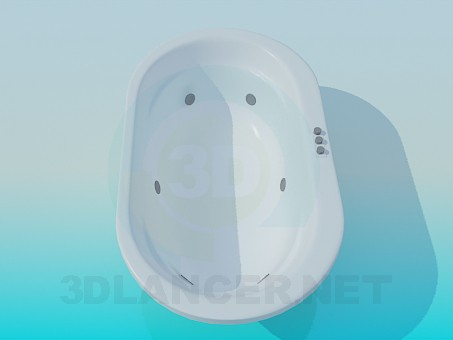 3d model Oval bath - preview