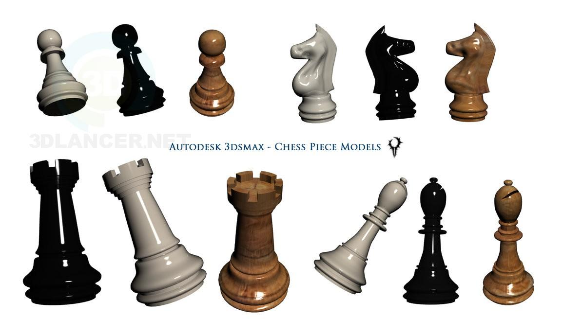 modelo 3D Modelo de ajedrez - escuchar