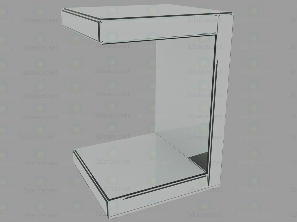 3d model Table fold Mirror - preview
