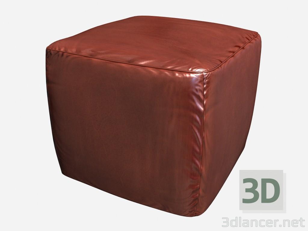 3d model Square Pouffe Art Deco Cubi 02 - preview