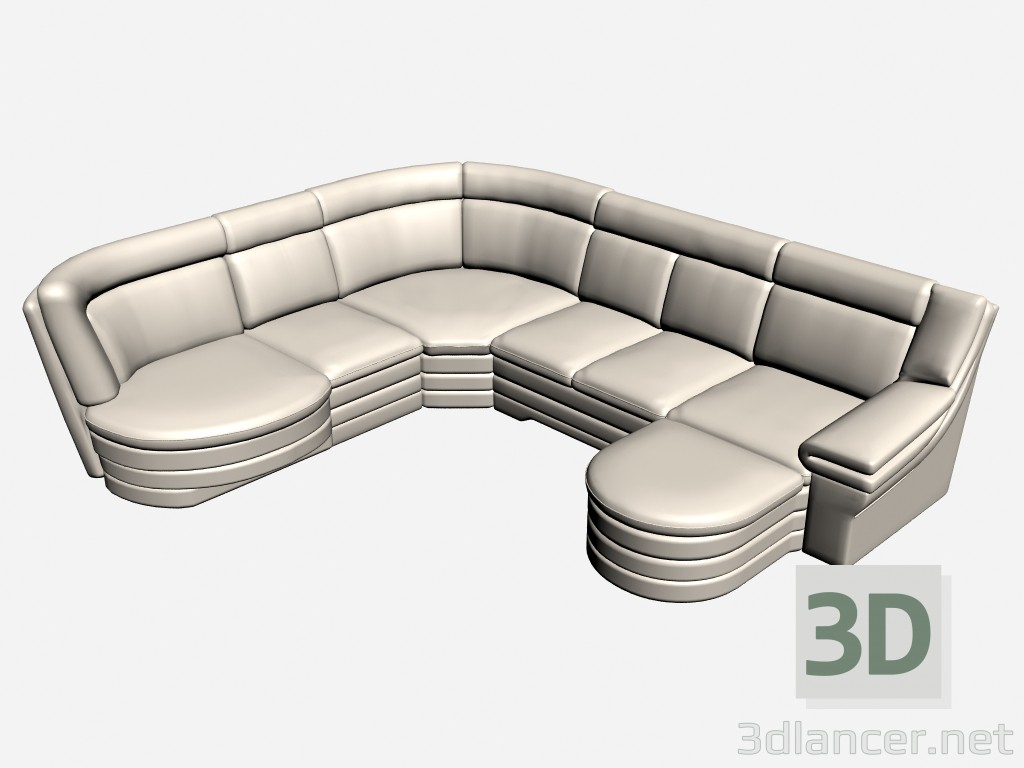 3d model Sofa corner Gras - preview