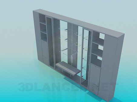 3d model Two-sided wall furniture - preview