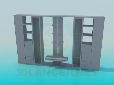 modelo 3D Muebles de pared a doble cara - escuchar