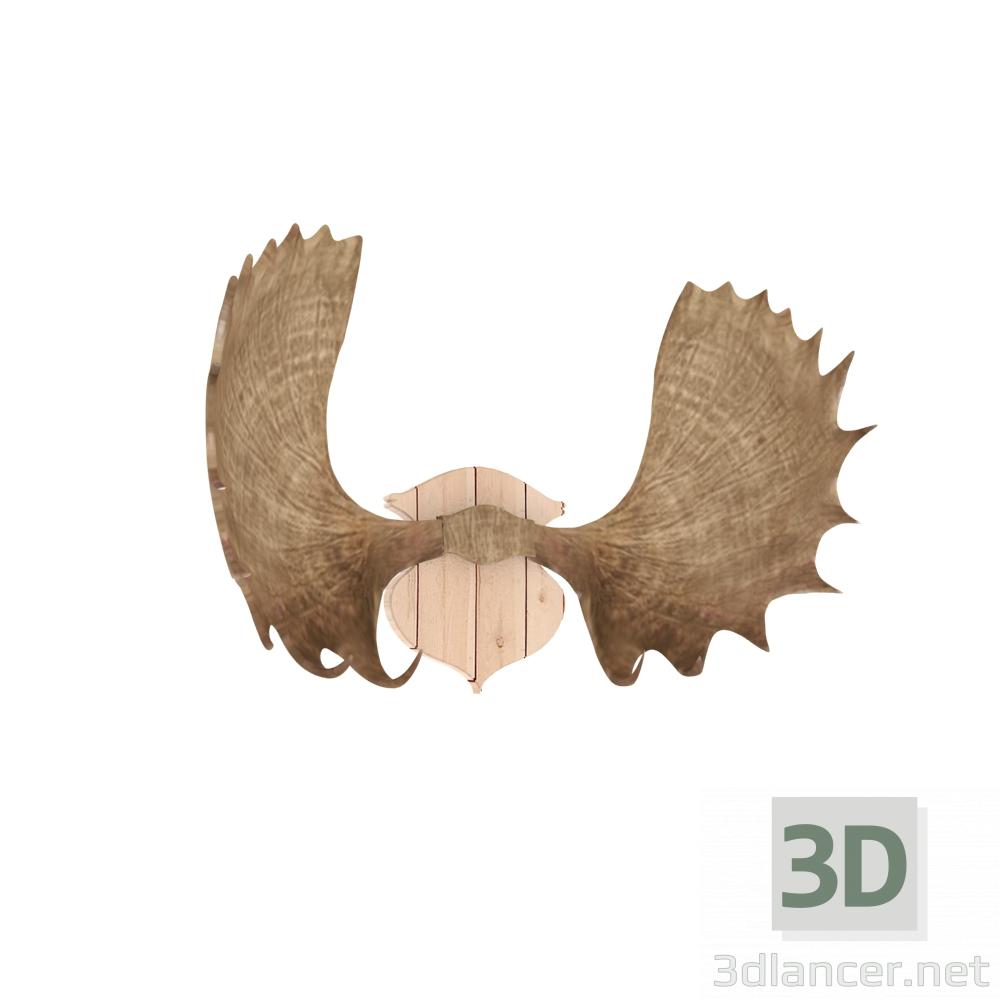 3 डी मॉडल मूस सींग - पूर्वावलोकन