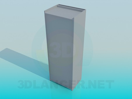 3d model Cabinet with low grip - preview