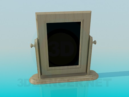 3d modeling Wooden floor mirror model free download