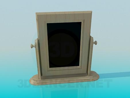 3d model Wooden floor mirror - preview