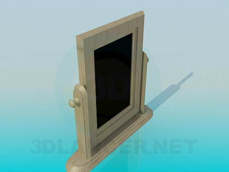 3d модель Деревянное напольное зеркало – превью