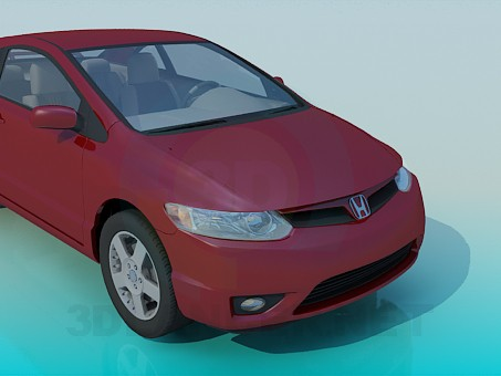 modelo 3D Honda CIVIC - escuchar