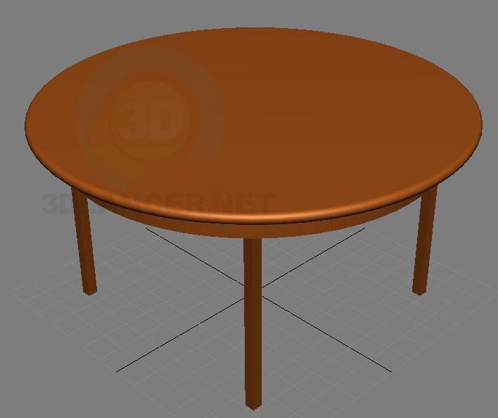 3d модель Стіл чайний – превью