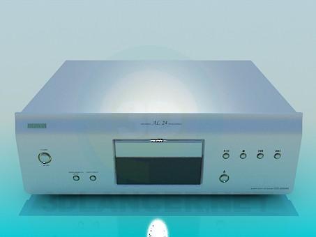 descarga gratuita de 3D modelado modelo Denon DVD