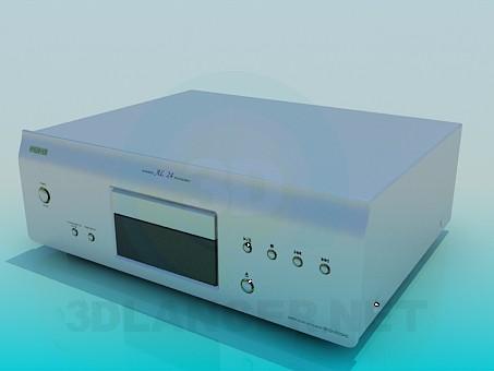 modelo 3D Denon DVD - escuchar