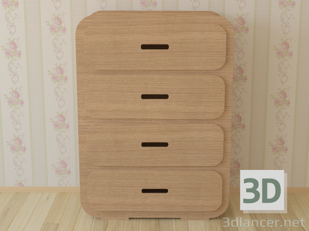 3d Chest of Drawer 1C from Unto This Last model buy - render