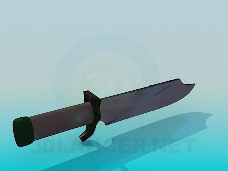 3d моделирование Штык-нож модель скачать бесплатно