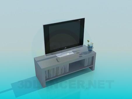 3D Modell TV-Ständer - Vorschau