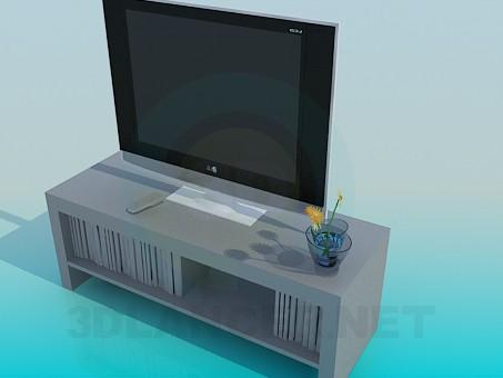 3d модель Телевізор на підставці – превью