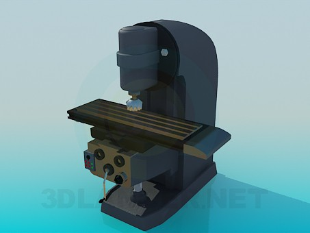 3d Model Drilling Machine Download For Free On