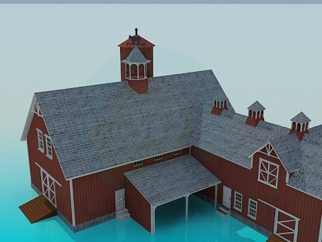 3d modeling Farmhouse model free download