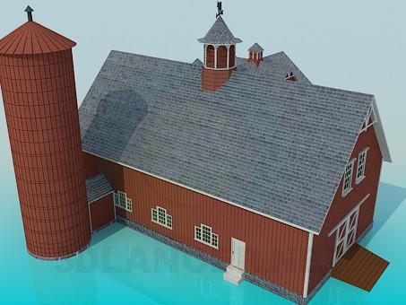 modelo 3D Casa de campo - escuchar