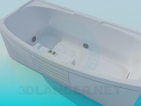 3d моделирование Ванна с джакузи модель скачать бесплатно