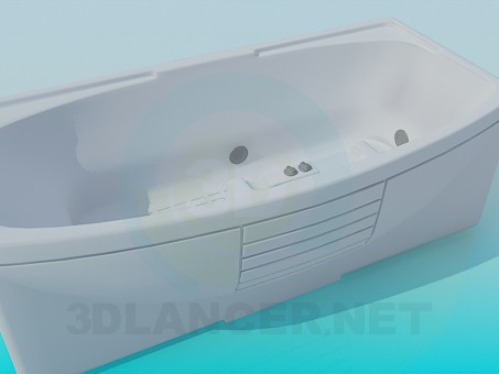 3d model Bathtub with jacuzzi - preview