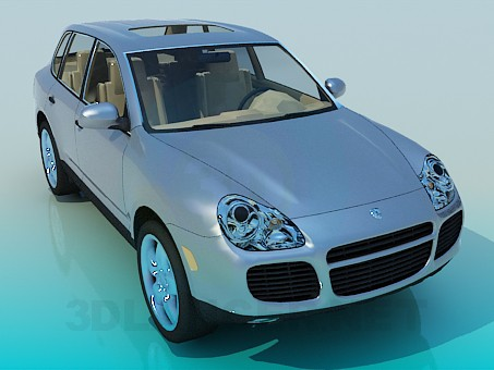 modelo 3D Porsche Cayenne - escuchar