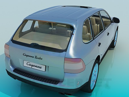 3d модель Porsche Cayenne – превью
