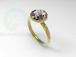 Кольцо с камнем 2