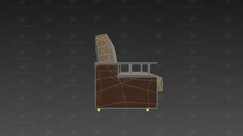 3d Диван модель купить - ракурс