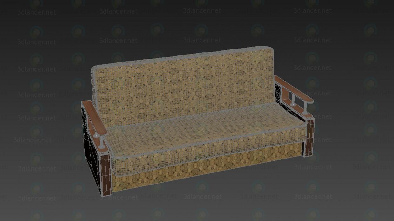 Sofá  3D modelo Compro - render