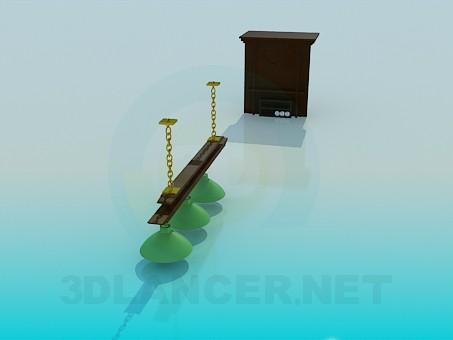 modelo 3D Situado en la sala de billar - escuchar