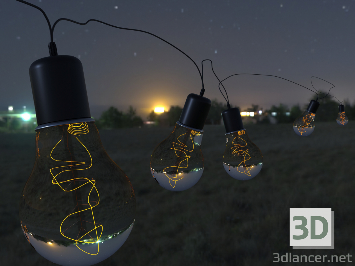3d model Lamp for nights - preview