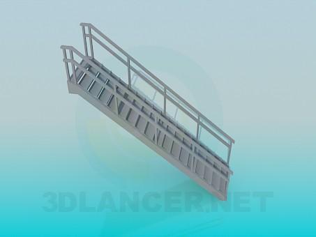 3d модель Металлическая лестница – превью
