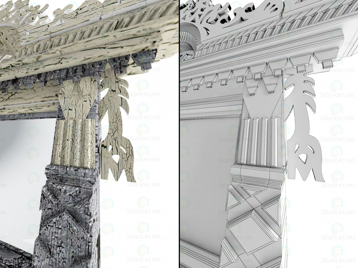 3d model Ornate window - preview