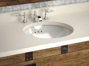 HEIRLOOM SILVER a washbasin and cupboard Restoration Hardware