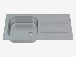 Lavabo, 1 taza con un ala para secar - satén Legato (ZEL 0110)